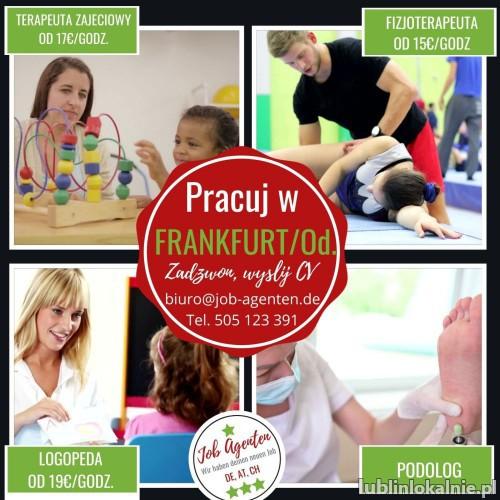 Fizjoterapeuta terapeuta zajęciowy logopeda czeka praca Frankfurt nad Odrą